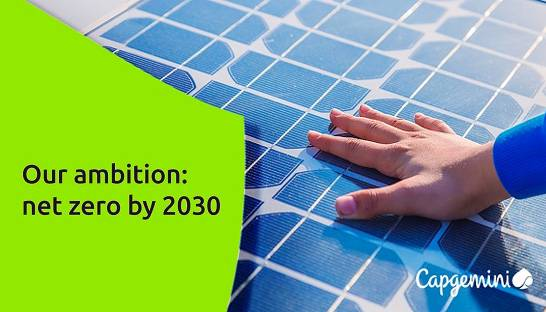 Capgemini pledges to become carbon neutral and net zero