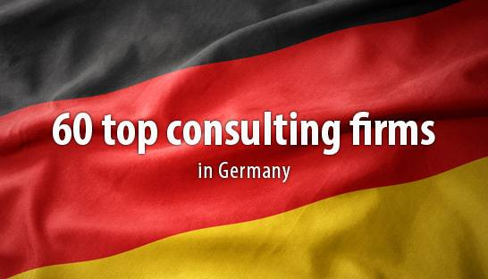 60 top consulting firms in Germany according to Die Welt