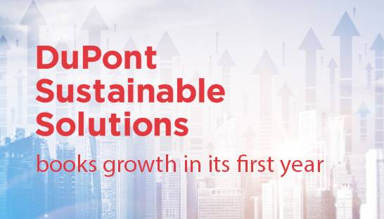 DuPont Sustainable Solutions books growth in its first year