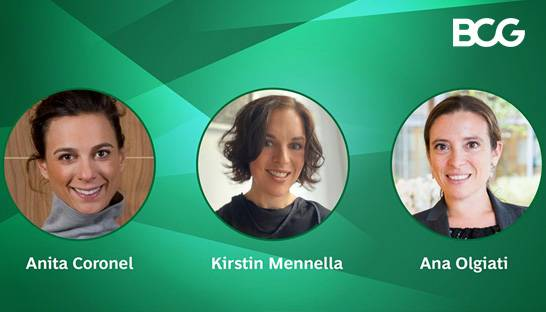 Anita Coronel, Kirstin Mennella and Analia Olgiati partner at BCG
