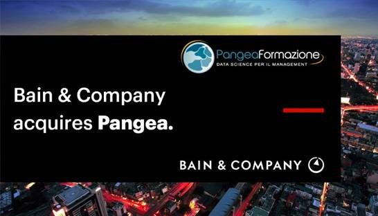 Bain & Company buys Italian data science boutique Pangea