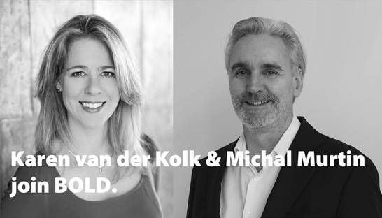 Karen van der Kolk and Michal Murtin join BOLD as partners